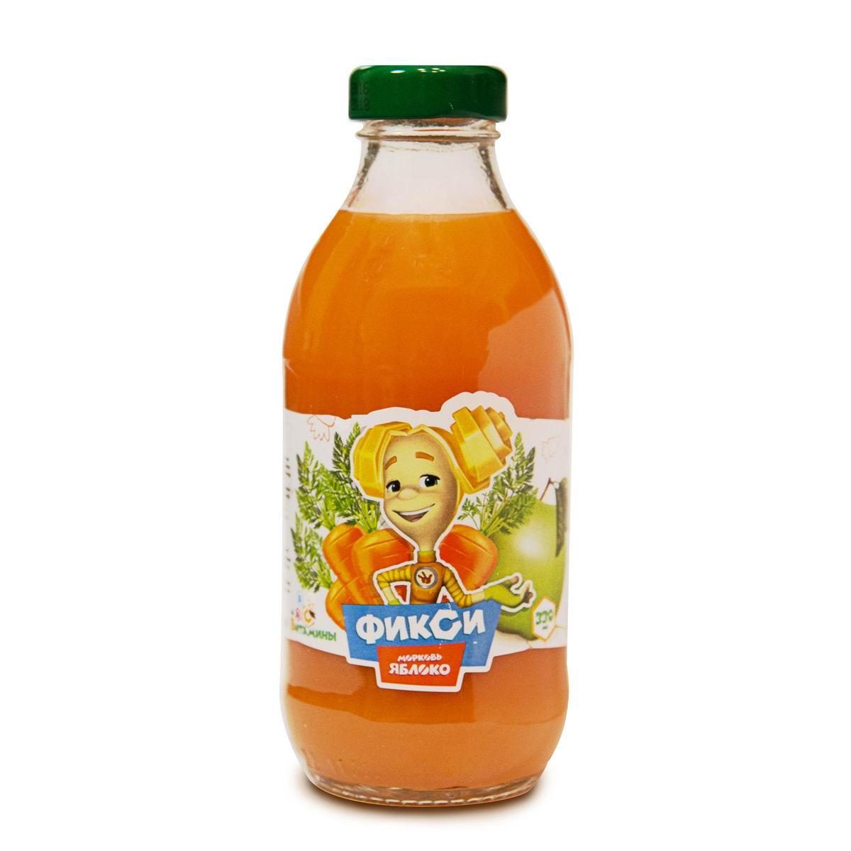 Нектар Фикси Морковь яблоко с мякотью (с 3 лет)<br>