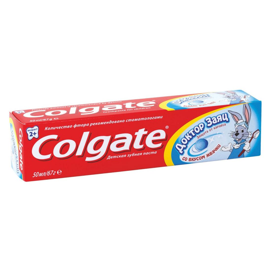 Зубная паста Colgate Доктор Заяц 50 мл со вкусом жвачки (с 2 лет)<br>