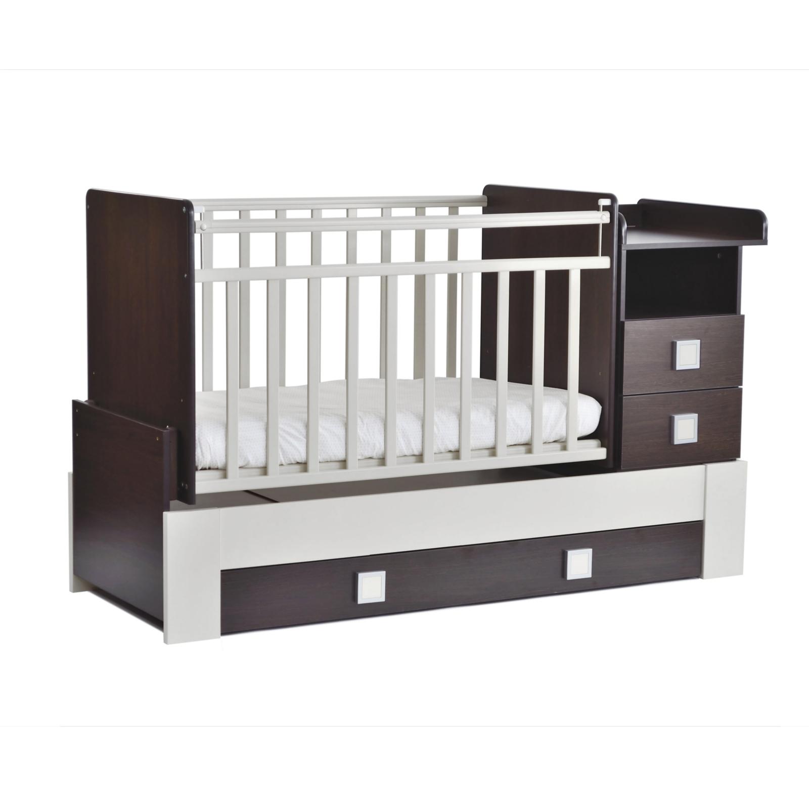 Кроватка-трансформер СКВ компани 83003 Венге/Белая<br>