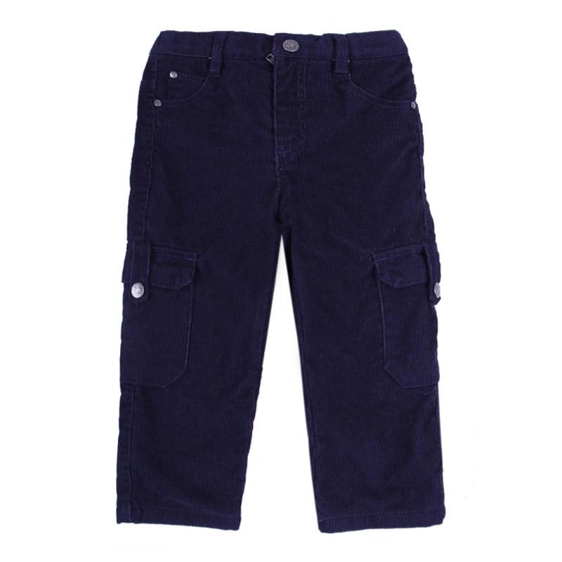 Брюки FOX Фокс цвет темный синий с карманами сзади для мальчика С 24 мес.<br>