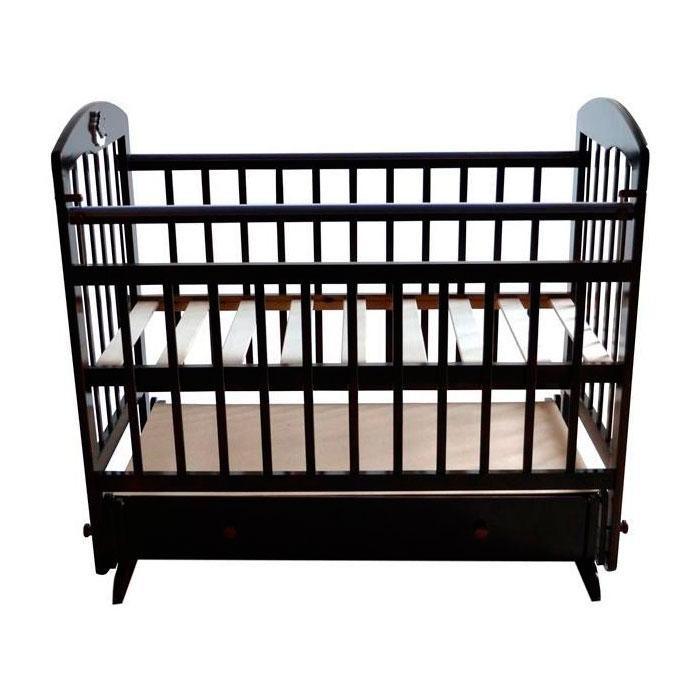 Кроватка Briciola 8 с поперечным маятником Темная<br>
