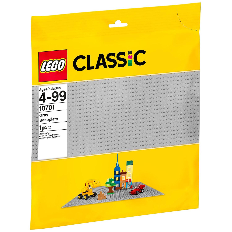 Конструктор LEGO Classic 10701 Строительная пластина серого цвета<br>