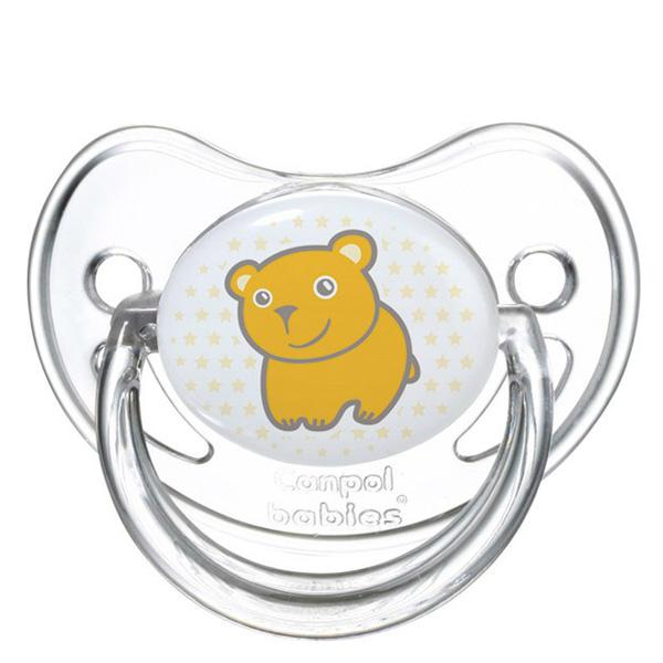 Пустышка Canpol Babies Transparent Анатомическая силиконовая (с 0 мес) мишка<br>
