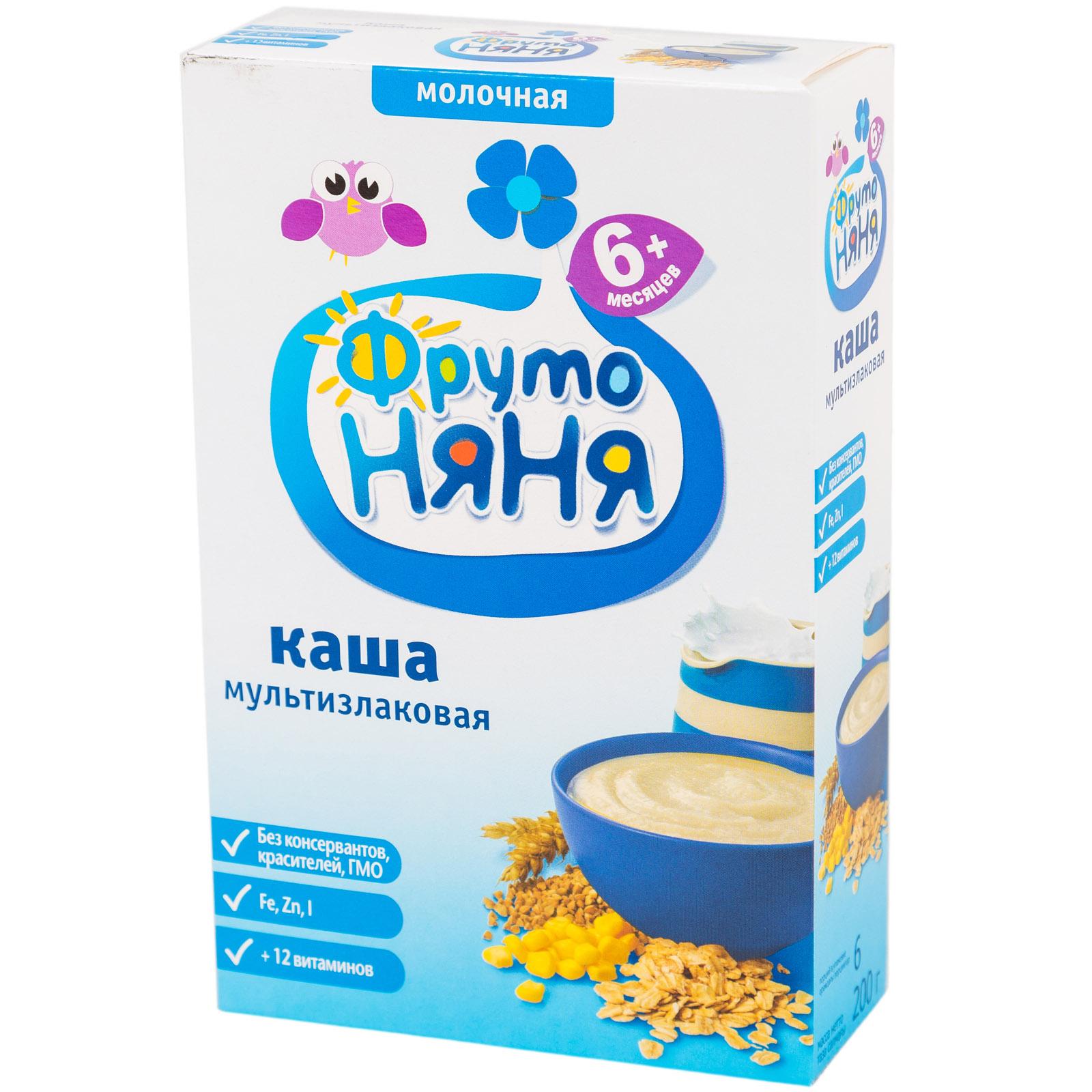 Каша Фрутоняня молочная 200 гр Мультизлаковая (с 6 мес)<br>