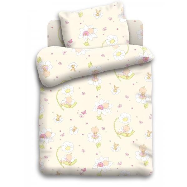 Комплект постельного белья детский бязь Непоседа Кошки-мышки Малыши Бежевый<br>