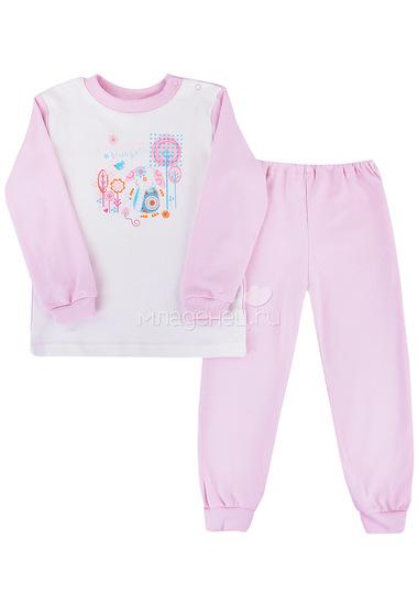 Пижама с манжетами Котмаркот Розовые слоники