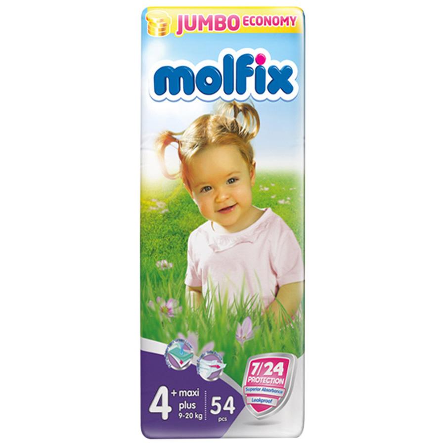 Подгузники Molfix Maxi Plus 9-20 кг. (54 шт.) Размер 4+<br>