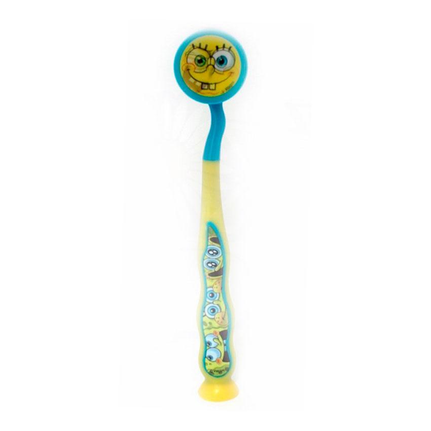 Зубная щетка Dr.Fresh на присоске Sponge Bob с защитным чехлом<br>