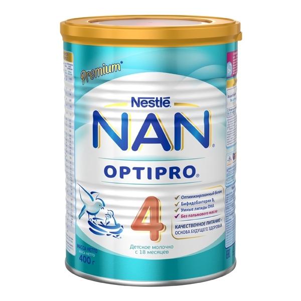 Детское молочко Nestle NAN Premium OPTIPRO 400 гр №4 (с 18 мес)<br>