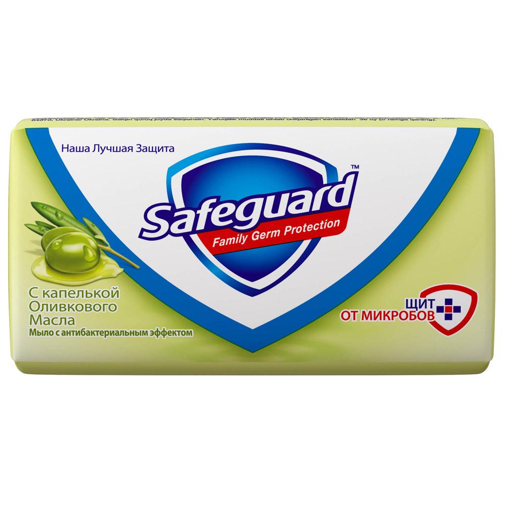 Мыло Safeguard антибактериальное 90 гр с капелькой Оливкового масла<br>