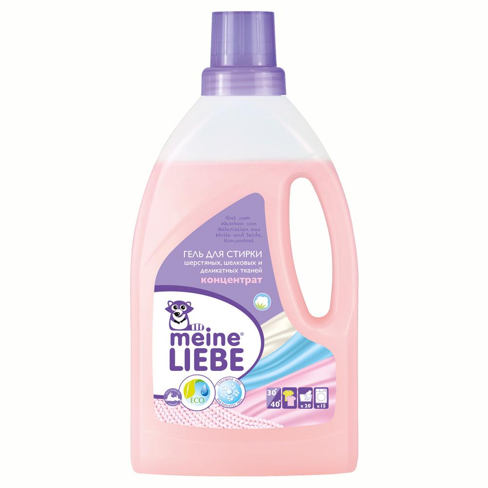 Гель Meine Liebe для стирки 800 мл. (концентрат) Для шерстяных, шелковых и деликатных тканей<br>