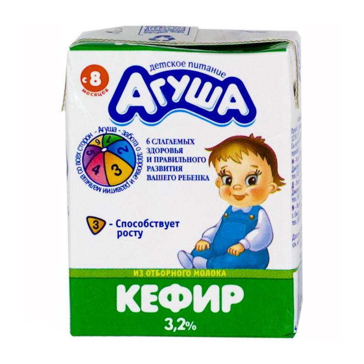 Кефир Агуша 200 мл 3,2% (с 8 мес)<br>
