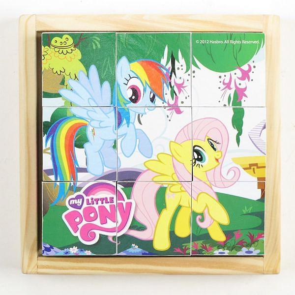 Деревянные кубики Играем вместе My Little Pony (9 кубиков)<br>