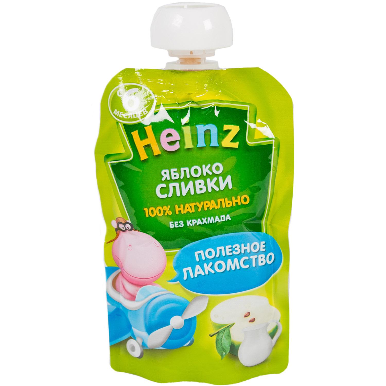 Пюре Heinz фруктовое со сливками 90 гр Яблоко (с 6 мес)<br>