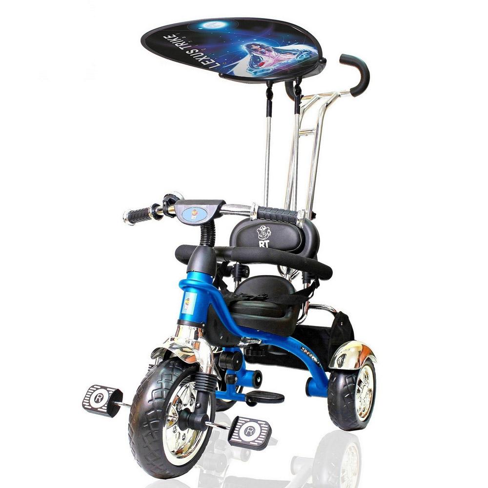 Велосипед RT Lexus Trike Grand Print Deluxe 2014 Синий матовый<br>