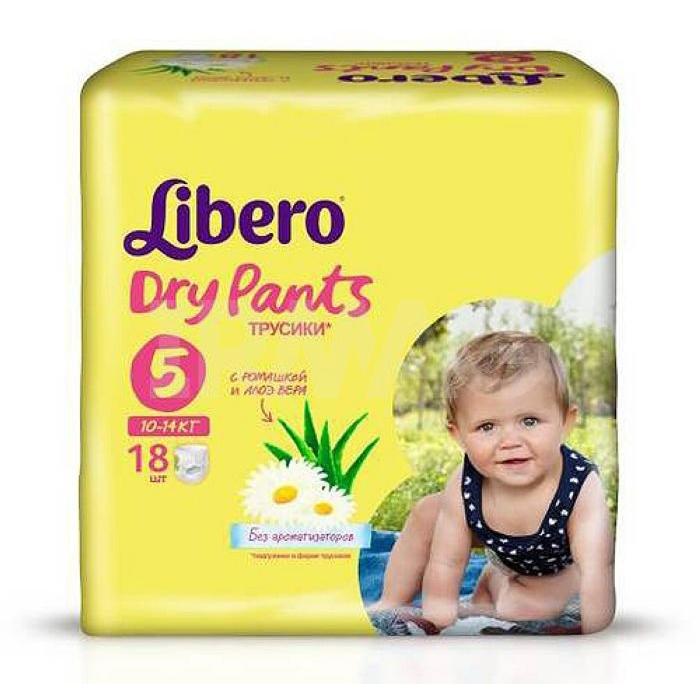 Трусики Libero Dry Pants Maxi+ 10-14 кг (18 шт) Размер 5<br>