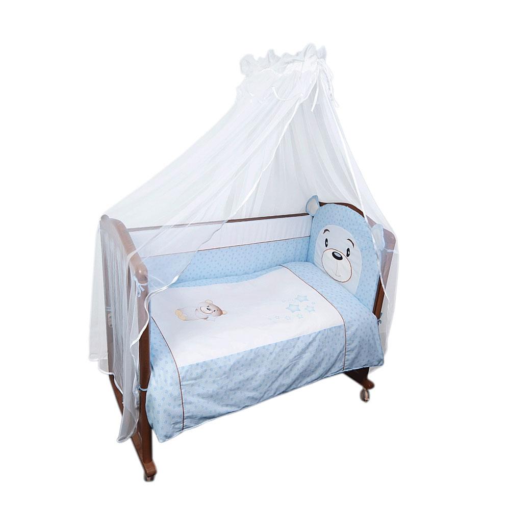 Комплект в кроватку Сонный гномик Умка 7 предметов Голубой<br>