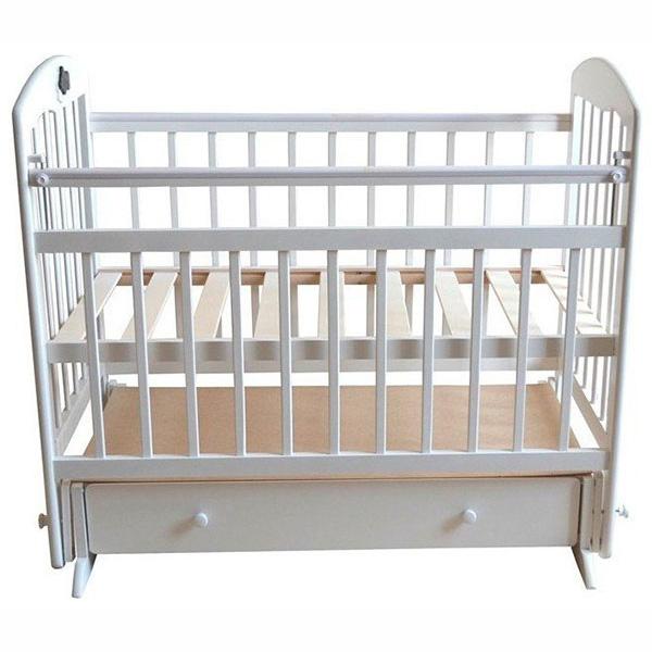 Кроватка Briciola 11 с поперечным маятником Белая<br>
