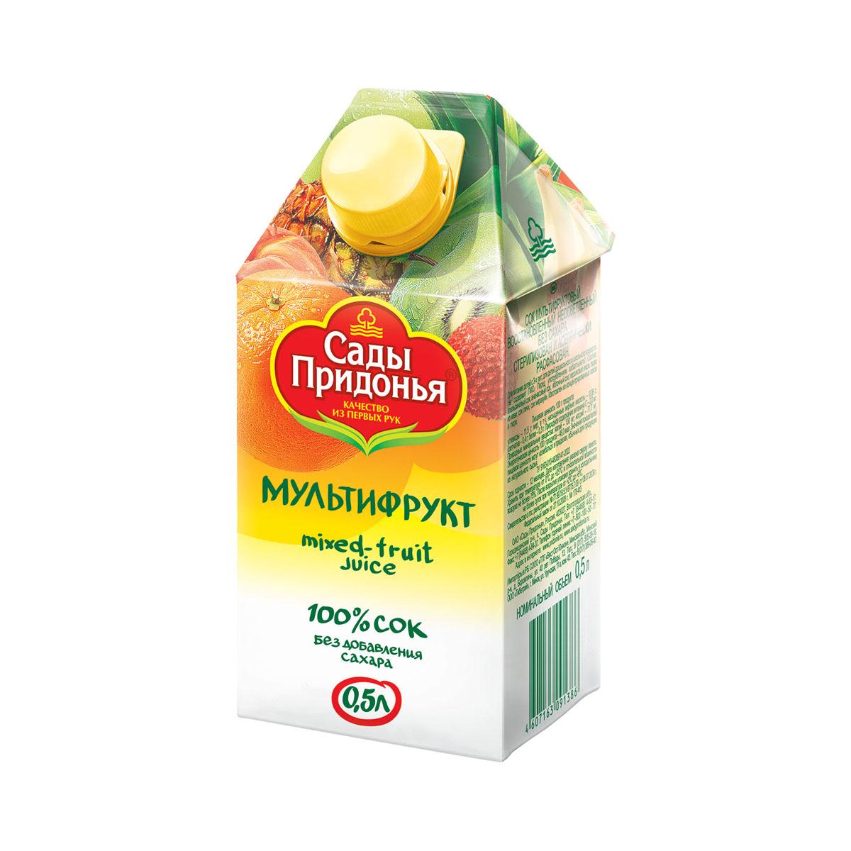 Сок Сады Придонья 500 мл (тетрапак) Мультифруктовый (с 3 лет)<br>