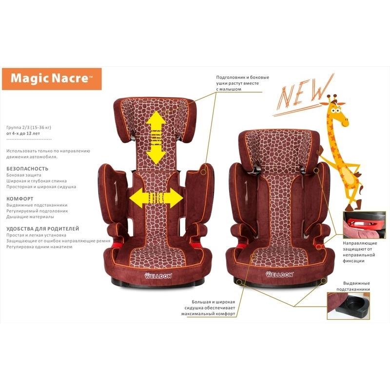 Автокресло Welldon Magiс Nacre BS05-B Zebra