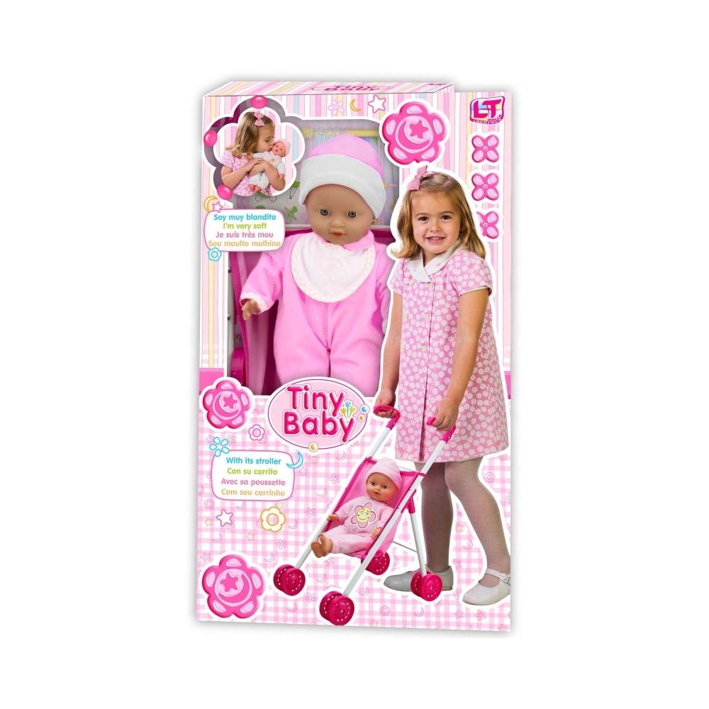 Кукла LOKO TOYS Tiny baby с коляской<br>