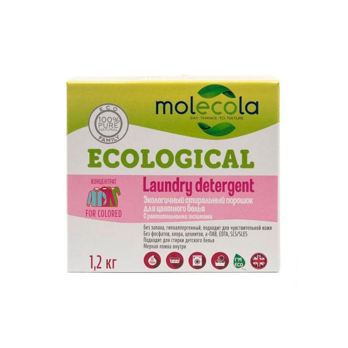 Стиральный порошок Molecola для цветного белья с растительными энзимами 1.2кг<br>