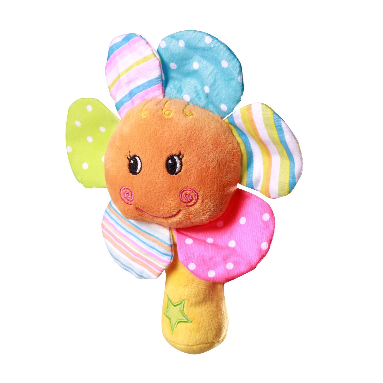 Погремушка BabyOno Цветок велюр<br>