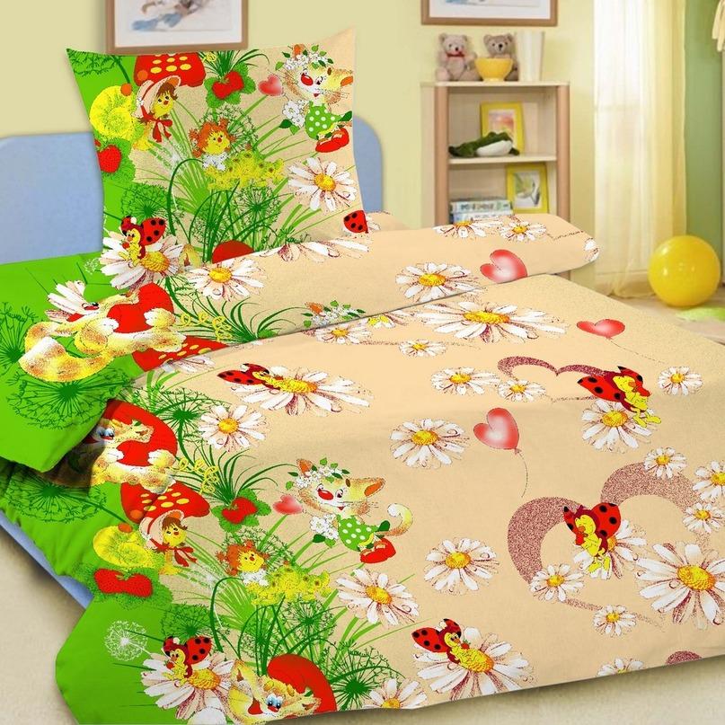 Комплект постельного белья детский Letto в кроватку BG-01<br>