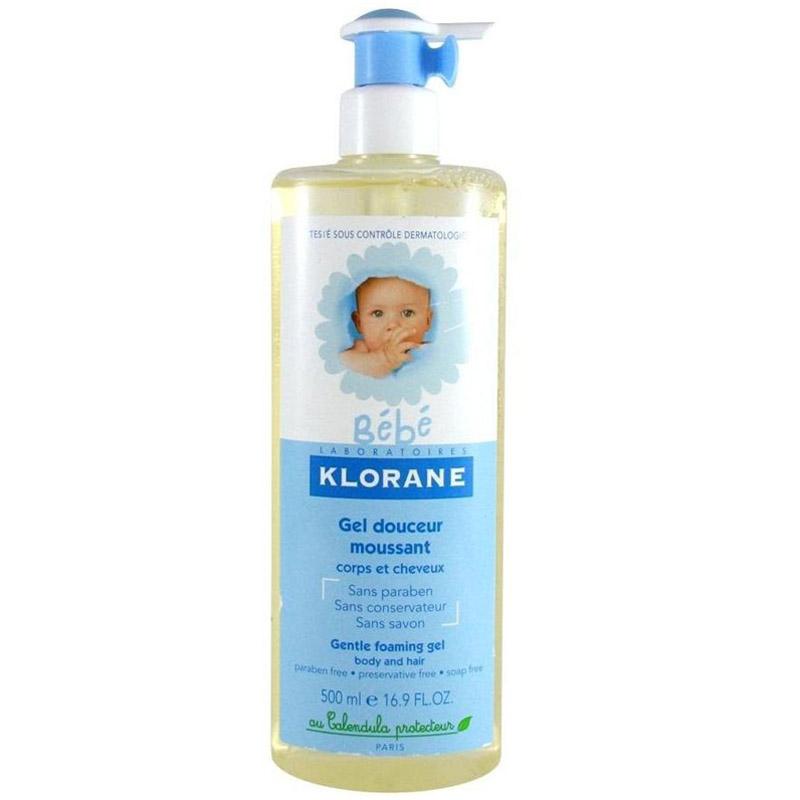 Гель Klorane Bebe для волос и тела 500 мл с экстрактом календулы