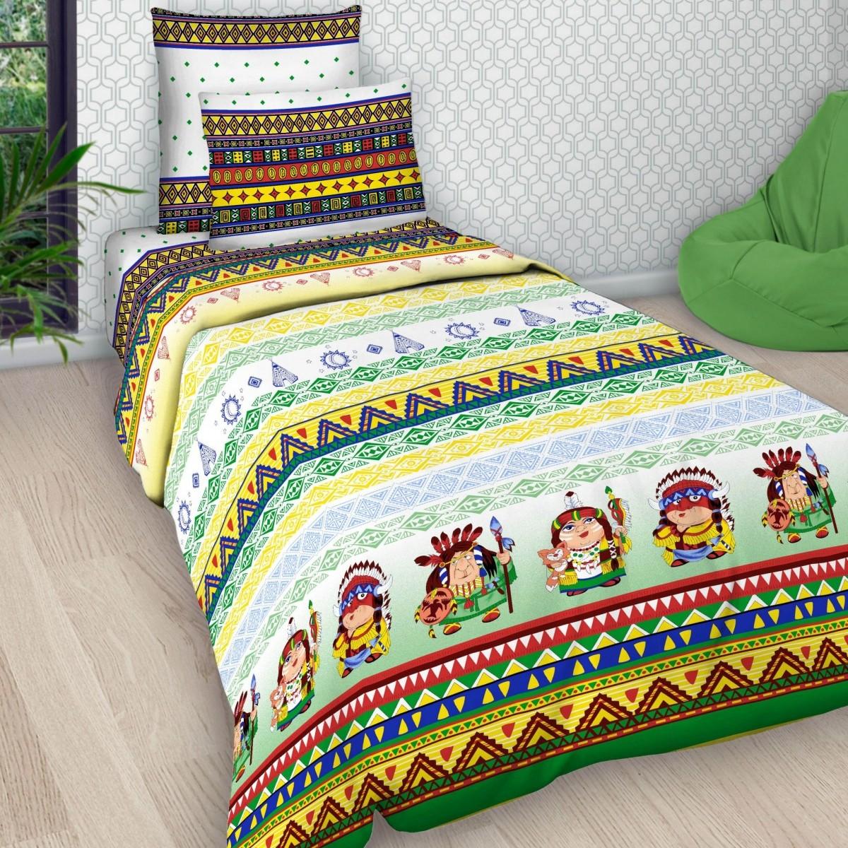 Комплект постельного белья детский Letto Индейцы<br>