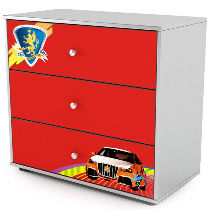 Комод 3 ящика Grifon Style R800 Красный<br>