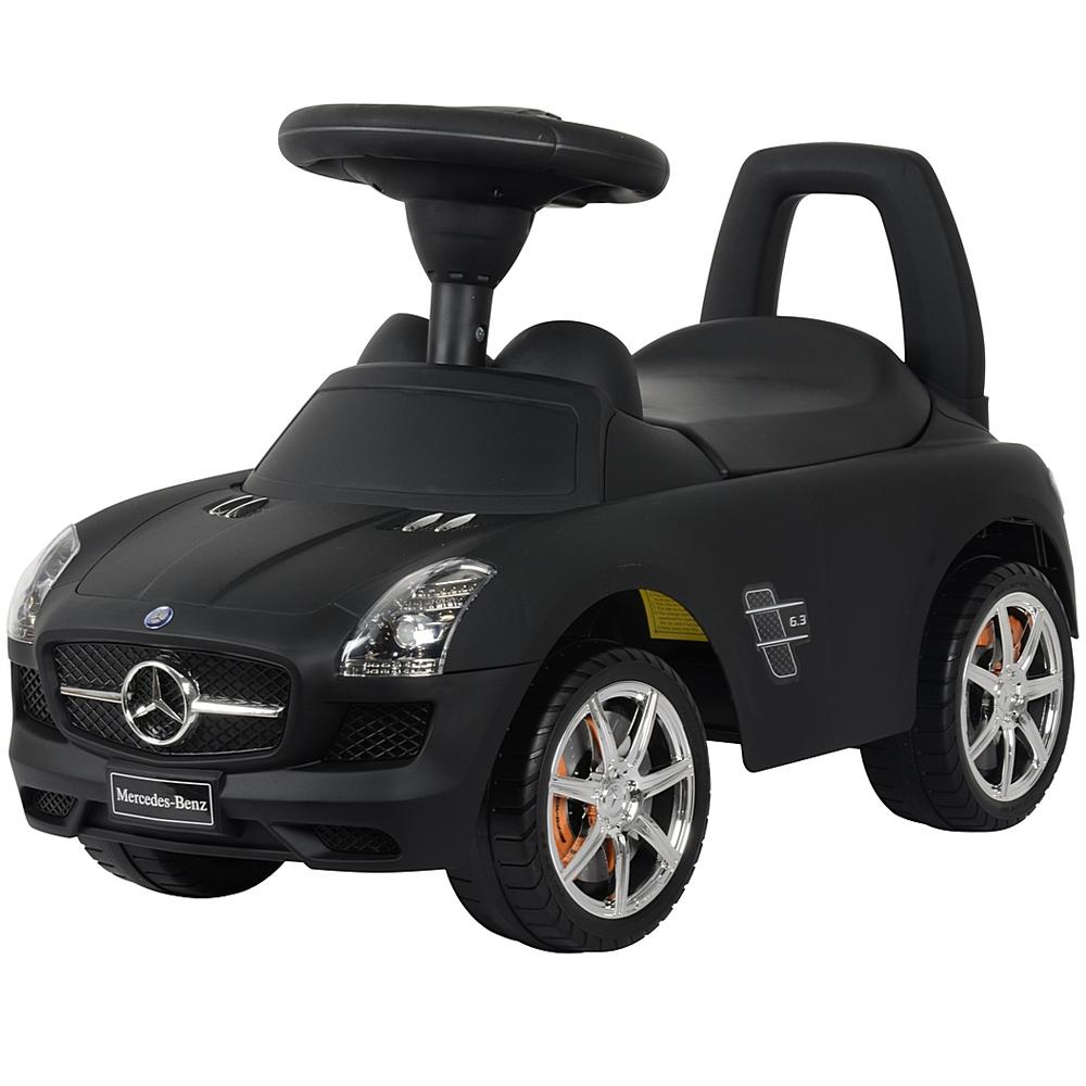Каталка-автомобиль RT Mercedes-Benz с музыкой Черная Матовая<br>
