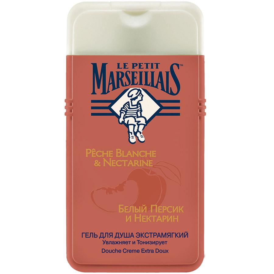Гель для душа Le Petit Marseillais 250мл Белый персик и Нектарин<br>