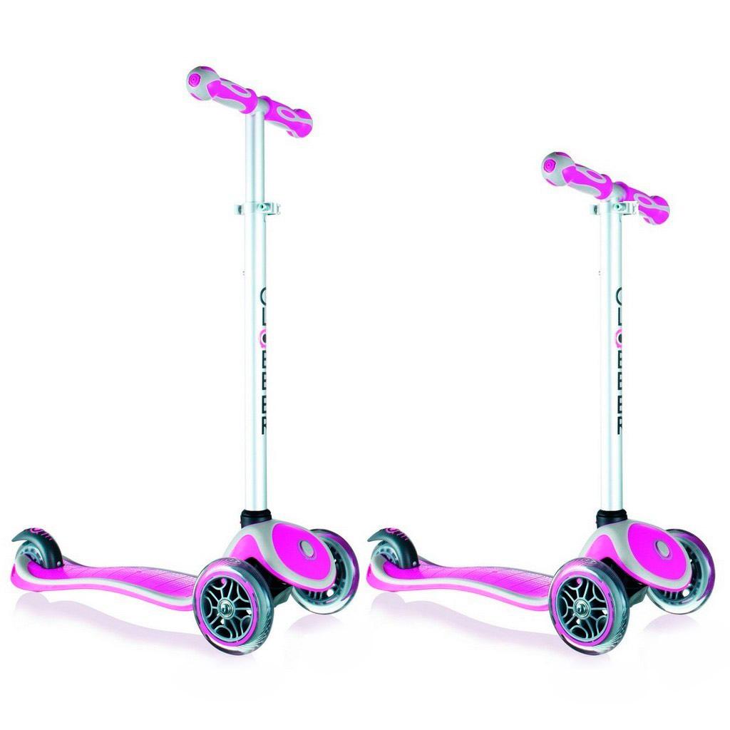 Самокат Y-SCOO RT Globber My free NEW Technology с блокировкой колес Pink<br>