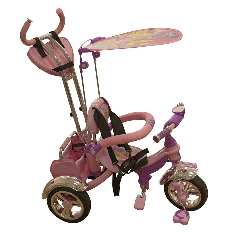 Велосипед Mars Trike трехколесный тент с рисунком Розовый с фиолетовым<br>