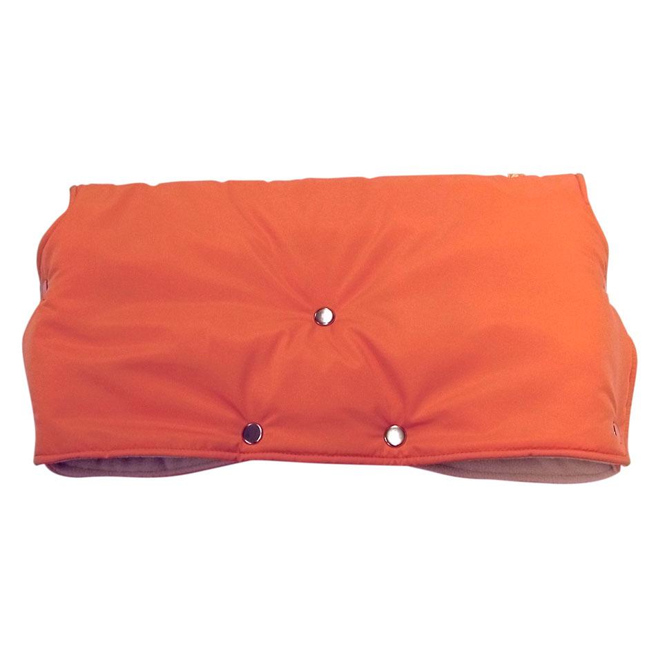 Муфта для коляски Чудо-Чадо флисовая (кнопки) Оранжевый<br>