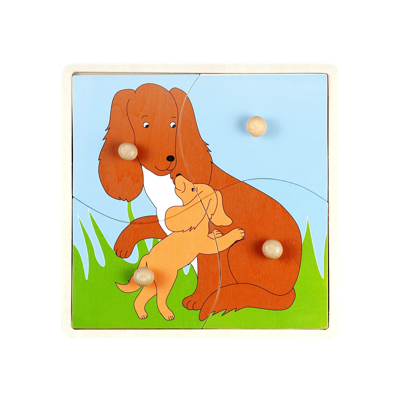 Пазл Маленький гений Мать и дитя Собака<br>