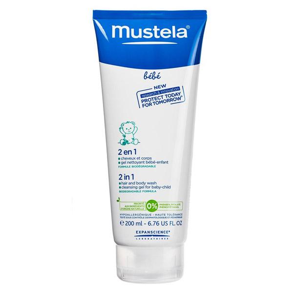 Гель-шампунь для головы и тела 2 в 1 Mustela 200 мл<br>