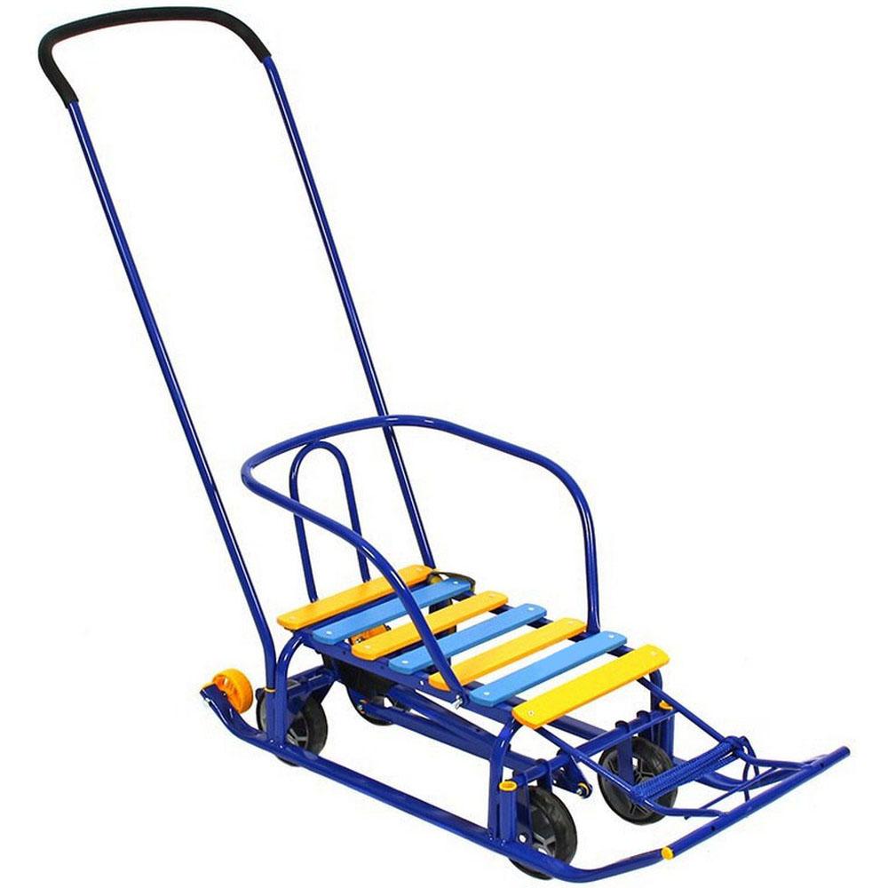 Санимобиль Kelkka BURAN на больших колесах+2 маленьких колеса Синий<br>