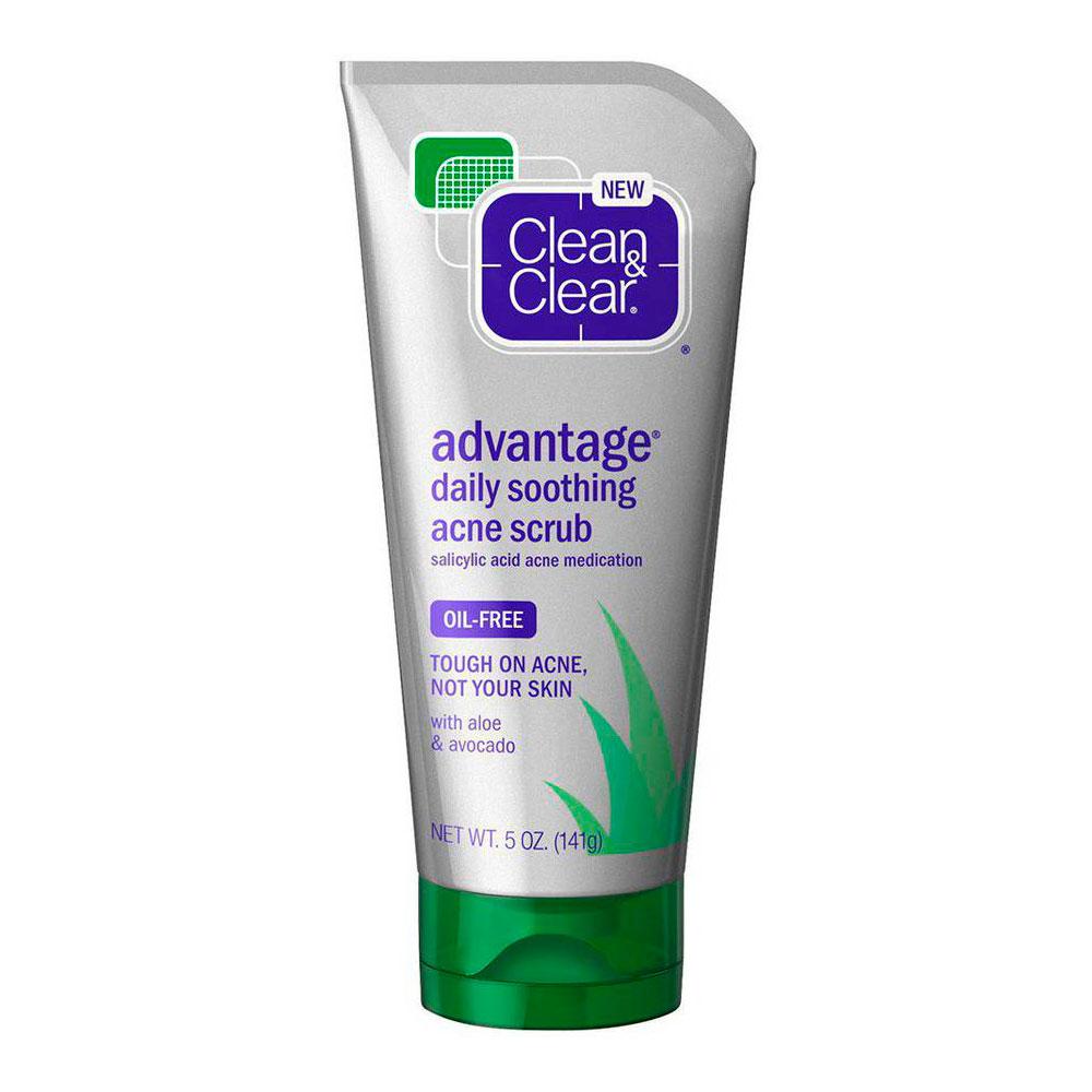 Скраб Clean&amp;amp;Clear Advantage с экстрактом алоэ (нежный) 150 мл<br>