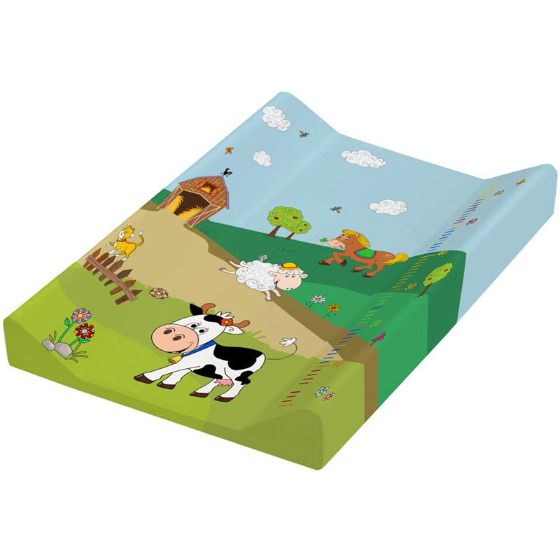 Пеленальная доска OKT с жёстким основанием с меркой 50х70 Веселая Ферма<br>