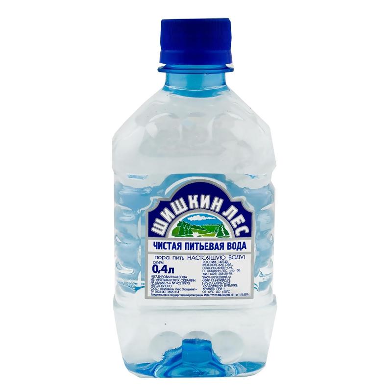 Вода питьевая Шишкин лес негазированная 0,4 л.