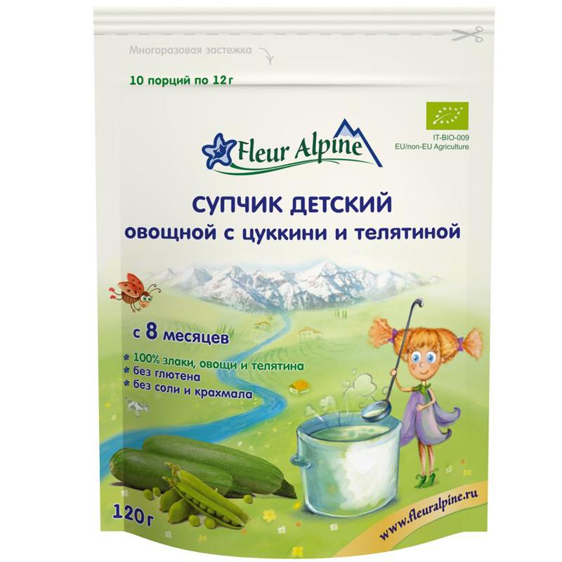 Супчик Fleur Alpine 120 гр Цуккини и телятина (с 8 мес)<br>
