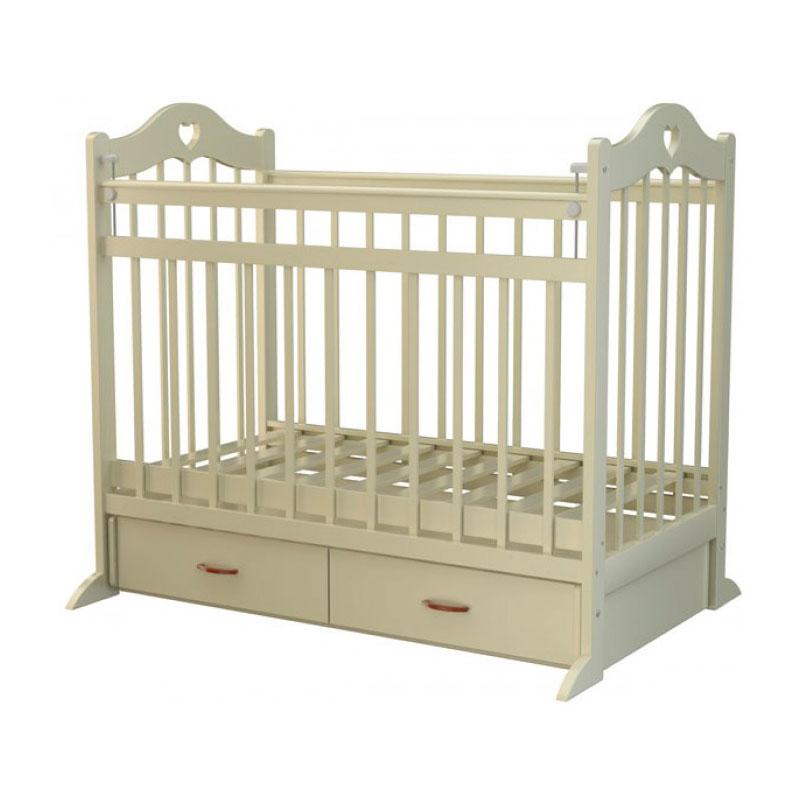 Кроватка Briciola12 с поперечным маятником Слон Кость<br>