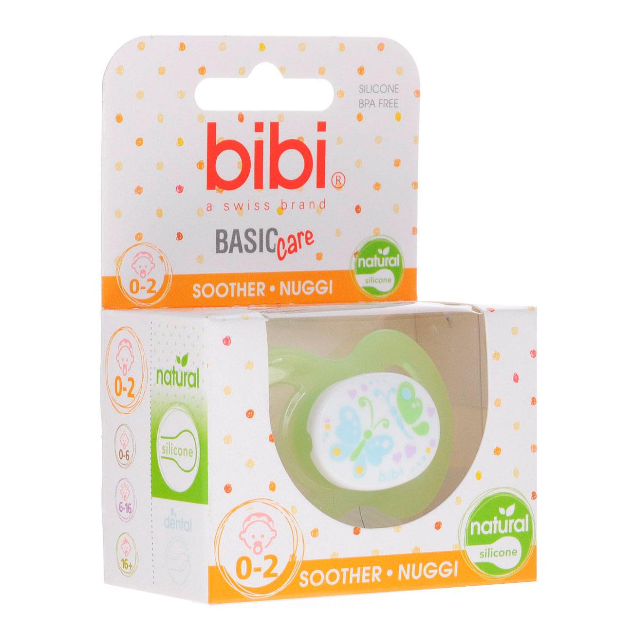 Пустышка Bibi Dental Natural BasicCare New Born (с 0 мес)<br>