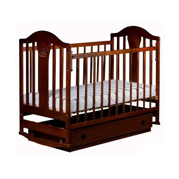 Кроватка  Наполеон NEW маятник поперечный Орех