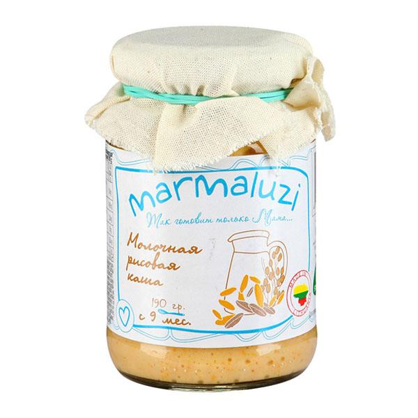 Каша Marmaluzi молочная 125 гр (готовая к употреблению) Рисовая (с 9 мес)<br>