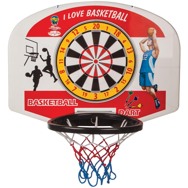 Баскетбольное кольцо Pilsan С мячом + дартс<br>
