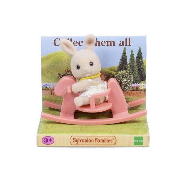 Игровой набор Sylvanian Families Младенец в пластиковом сундучке медвежонок на велосипеде собачка на качелях-лошадке крольчонок на качалке<br>