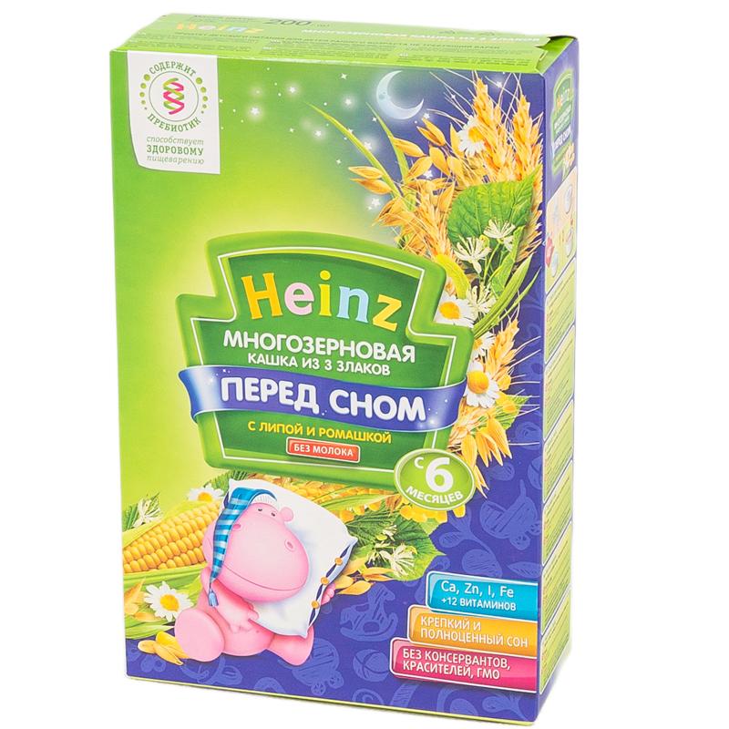Каша Heinz безмолочная 200 гр Многозерновая из 3 злаков с липой и ромашкой (с 6 мес)<br>